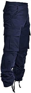 بناطيل رجالية من Clinlllinisnsck ، سراويل كارجو ، سراويل رجالية أزياء سراويل كارجو متعددة الجيوب مرونة الخصر جيوب كبيرة طو...