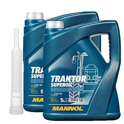 2x5 Liter MANNOL Traktor Superoil SAE 15W-40 API SG/CD ink.Auslaufshlauch