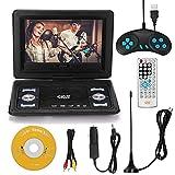 Kstyhome 10,1-Zoll-High-Denifition-TV-DVD-Player Tragbarer VCD-MP3-MPEG-Viewer mit Spielgriff und CD