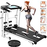 QMMYA Treadmills - Cinta de correr mecnica, equipo de ejercicio para prdida de peso para uso domstico plegable, hasta 150 kg