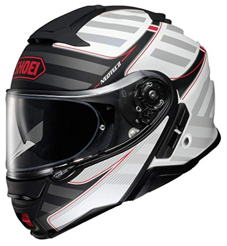 Shoei Neotec II Modular Motorcycle Helmet Splicer Matte White TC-6 Large (More Size Options)
