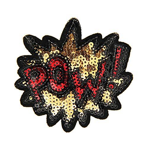 Sweet Deluxe Brosche Pow, Gold/balu/rot I ausgefallene Blusenbrosche für Damen & Mädchen I Frauen-Brosche für Abendkleid & Bluse I Anstecknadel