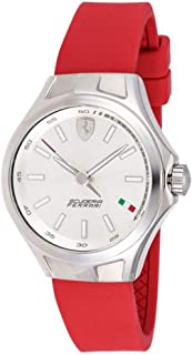 Ferrari Women's Silver Dial Rubber Band Watch - 820008