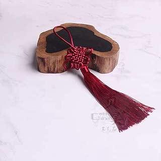 Mingi 10PC Nudos Chinos Pendiente de Borla Accesorios de joyería Textil para el hogar Cortina Ropa Costura Macrame Decoración Colgante, Vino Rojo