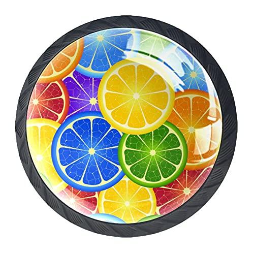 Arancio Arcobaleno Pomelli Premium Cassettiera Hardware 4 Pack per Ufficio Casa Cucina Bagno Armadietto