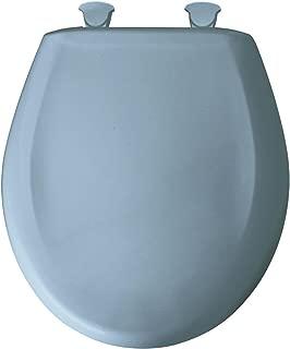 Bemis 200SLOWT 034 Round Closed Front Toilet Seat, Sky Blue,