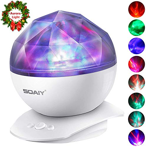 Aurora Night Light Projector Lights, Soaiy, 8 Changing Aurora and...