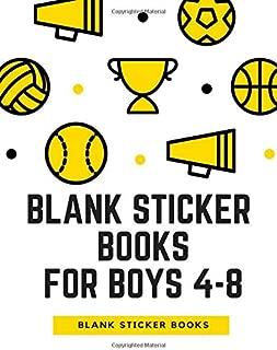 Blank Sticker Books For Boys 4-8: My Sticker Collection Book, Blank sticker book for boys, Blank sticker books for girls