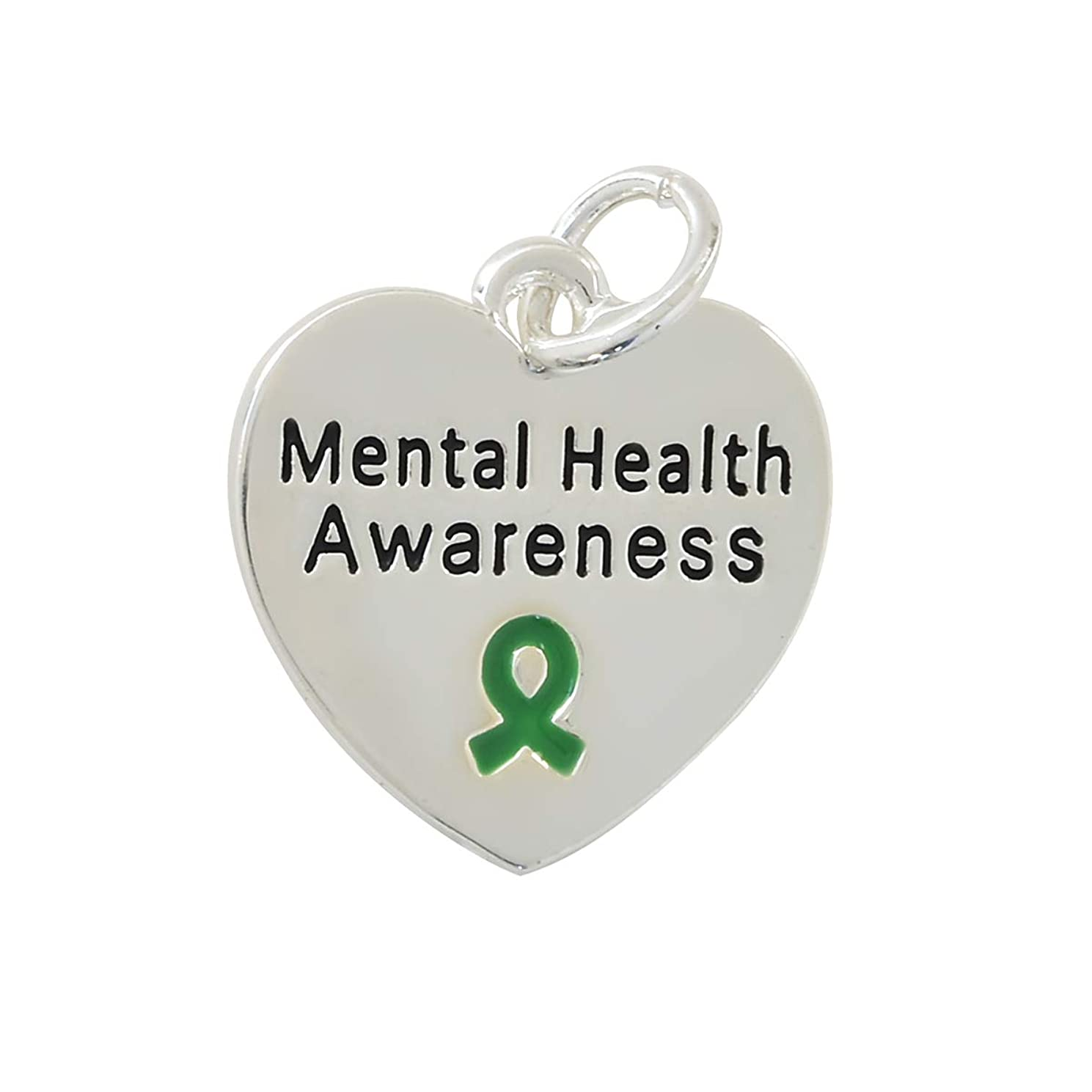 Mental Health Awareness Heart Charms (25 Charms in a Bag)