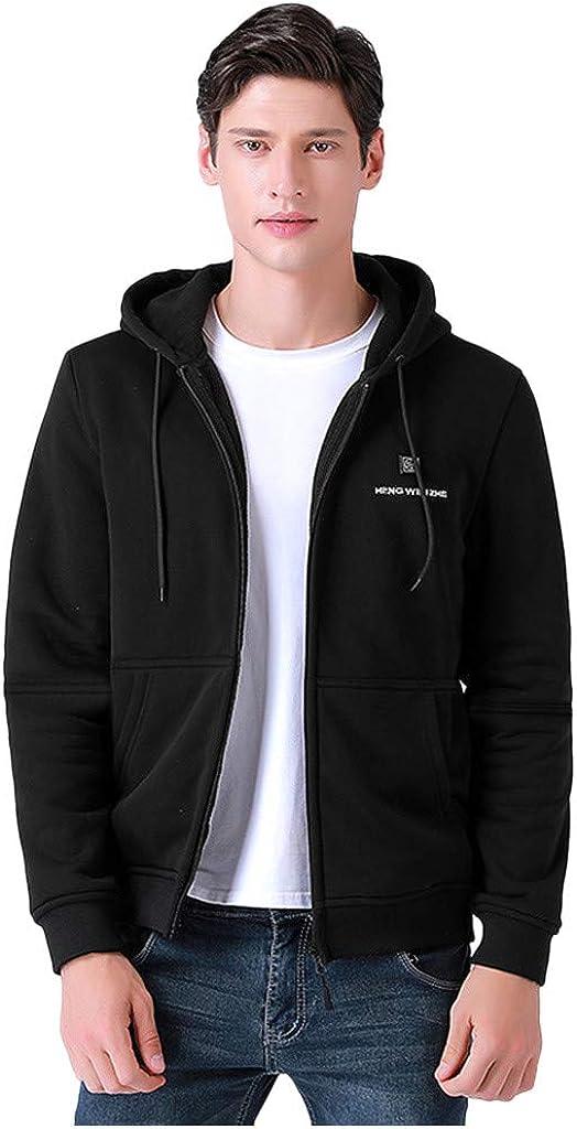 NotingBuss Heated Jacket with Battery Pack and Drawstring Hood,Heated Coat Winter Inner Warm Fleece Ski Coat