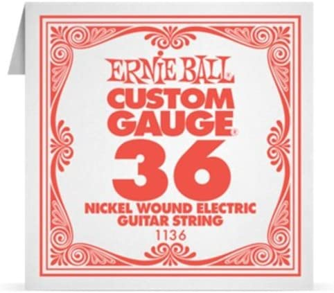 Ernie Ball Guitar Strings EB Las Vegas Mall NICKEL 1136 .036 WOUND Topics on TV SINGLE