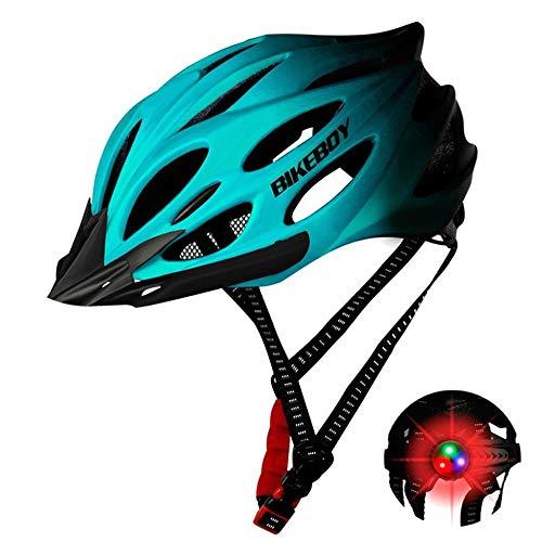 Casco Bicicleta Casco De Bicicleta, Luces Led, Viseras para Hombres, Mujeres, Transpirable,...