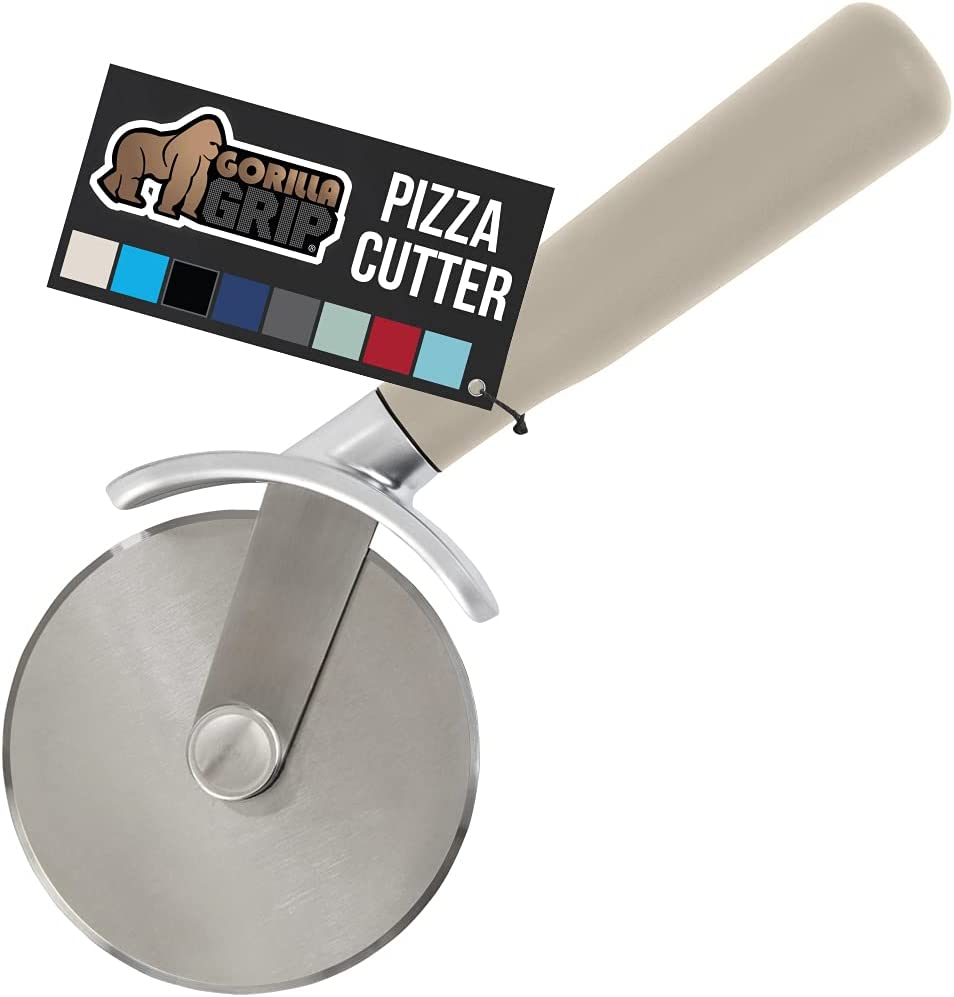 Gorilla Grip Stainless 1 year warranty Steel Pizza Resis Max 58% OFF Sharp Wheel Large Rust