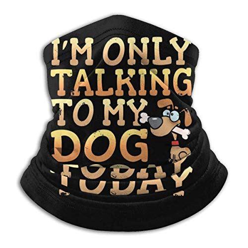 I M Only Talking Tomy Dog Today Face Cover Bandanas Bufanda de Polaina de Cuello sin Costuras para Exteriores Protección Facial Negro