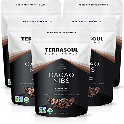 Terrasoul Superfoods Raw Organic Cacao Nibs, 5 Lbs (5 Pack) - Raw | Keto | Vegan