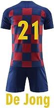 XIAOL Camisetas De Fútbol 2019 Niños Y Niñas Conjuntos De Ropa De Fútbol Niños Niños Fútbol Barcelona Uniformes De Entrenamiento Conjunto De Entrenamiento De Fútbol para Niños,DeJong-Kids28