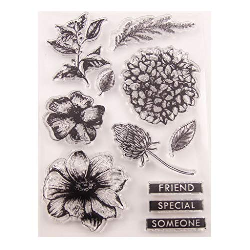 Flower Silicone Clear Seal Stamp DIY Scrapbooking Embossing Photo Album Decorative Paper Card Craft Art Handmade Gift