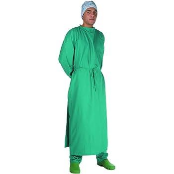 Bata quirúrgica - Talla 58 – 62 - Color verde - Para médicos y ...