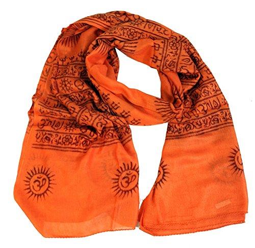 GURU SHOP Dünnes Baba Tuch, Benares Lunghi, Herren/Damen, Orange, Synthetisch, Size:One Size, 180x95 cm, Tücher Alternative Bekleidung