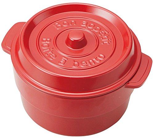 竹中 日本製 お弁当箱 ココポット ラウンド レッド (上段)230ml、(下段)300ml T-56440