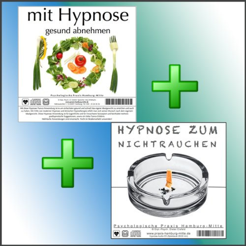 MIT HYPNOSE GESUND ABNEHMEN + HYPNOSE ZUM NICHTRAUCHEN (Hypnose-Audio-CDs) --> keine Gewichtszunahme für frische Nichtraucher, und keine Chance für Nikotinsucht beim Abnehmen! (NUR FÜR KURZE ZEIT)