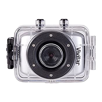 Vivitar DVR785HD-BLU 5MP Pro Waterproof Action Camcorder with Case and Mounts Video Camera with 2-Inch LCD Screen  Color May Vary