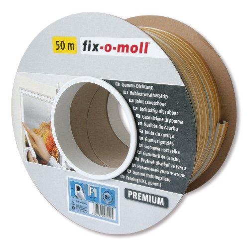 fix-o-moll P-Profildichtung Bobin 50 m 5,5 x 9 mm selbstklebend weiß, 3585255