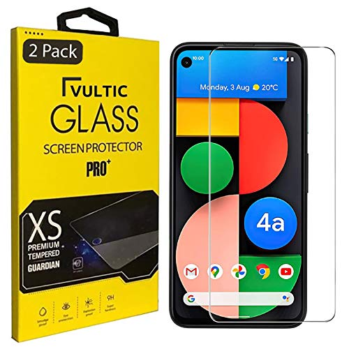 [2 Pack] Vultic Google Pixel 4a 5G Screen Protector Tempered Glass [NOT for Pixel 4a 4G][Case Friendly] Film Cover for Google Pixel 4a 5G 6.2'