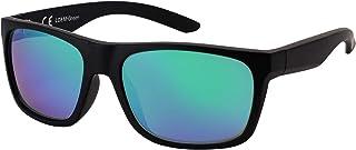 La Optica B.L.M. - La Optica Gafas de Sol LO8 UV400 Deportivas da Hombre y Mujer, Mate Negro (Lentes: Verde espejada)