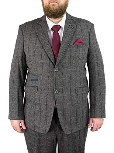Albert Grey Heren 2 Stuk Groot & Tall Tweed Pak