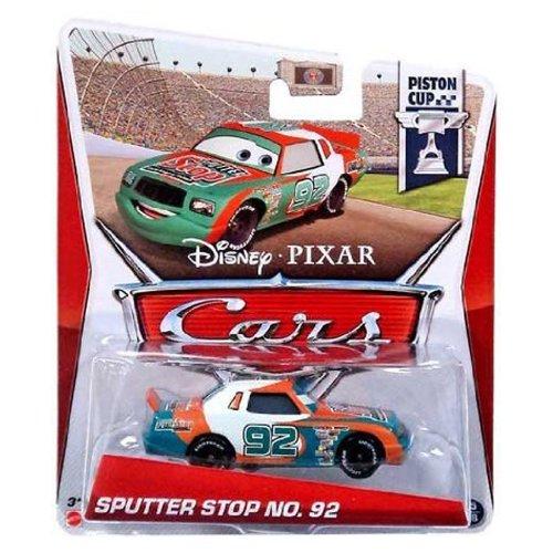 Disney Pixar Cars Sputter Stop No. 92 (Piston Cup 15/18) - Voiture Miniature Echelle 1:55