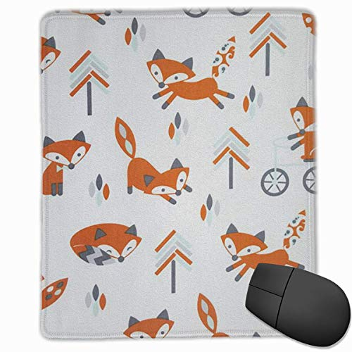 Mouse Pad Funny Geometric Fox Gaming Mouse Pad Mat Custom Design Non-Slip 25 x 30 x 0.3 CM