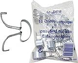 axentia Set ganci per barattoli da conserva in acciaio INOX - Clip per vasetti universali, per conservare gli alimenti - Chiusure per barattoli, 10 pz
