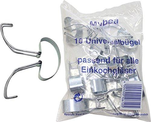 Westmark 10 Universalbügel zum Verschließen von Einmachgläsern, Stahl, Silber, 40502251