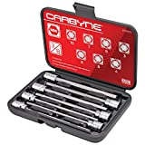 Get CARBYNE 7 Piece Extra Long Hex Bit Socket Set - Metric, S2 Steel Bits | 3/8