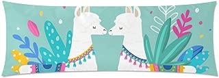 InterestPrint Body Pillow Covers Pillowcase Llama Love Throw Pillows 21