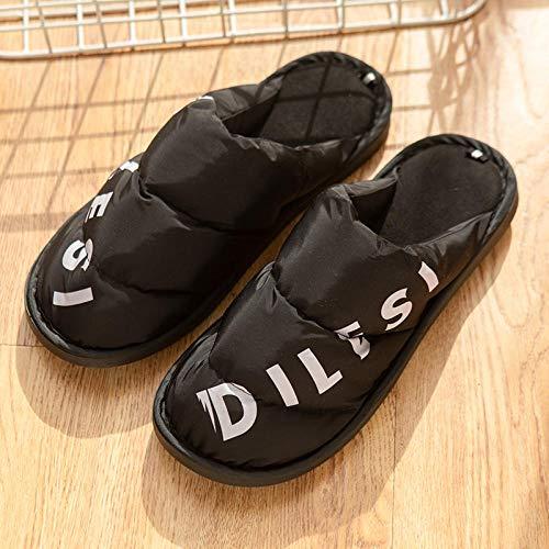B/H Mujer Hombres Slippers Suave Zapatillas de algodón de Plumas, Zapatillas de...