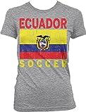 NOFO Clothing Co Ecuador Soccer, Ecuadorian Flag, Futbol Juniors T-Shirt, XL LtGray