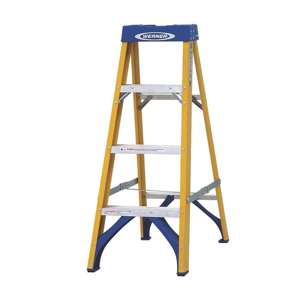Werner 71694 escalera plegable escalera de fibra de vidrio escalera (1. 12 m: Amazon.es: Bricolaje y herramientas