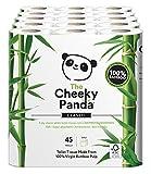 La Cheeky Panda 100% bambú inodoro rollo de papel Tissue–suave, suave con la piel, super absorbente, no químicos irritantes