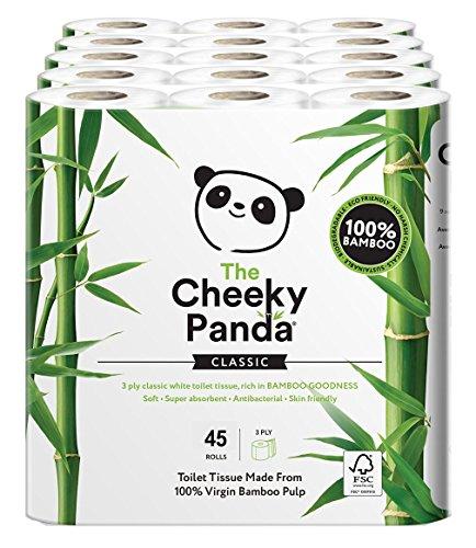 Cheeky Panda Rouleau de papier toilette 100% tissu...