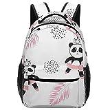 AIBILI Kinder Schulranzen Rucksack Kinder Schulranzen Studentenrucksack Reise Daypack Schultaschen Lässiger Rucksack mit Brustgurt Süße Panda-Ballerinas