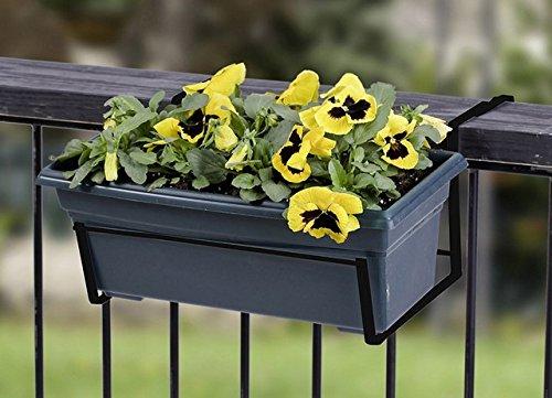 Panacea Deck Flower Box Holder 14.75 ' X 7.25 ' X 12.25 ' Steel Black
