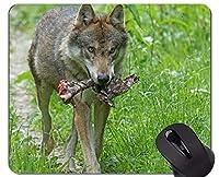 ゲーミングマウスパッド、オオカミ動物野生動物オフィスマウスパッド