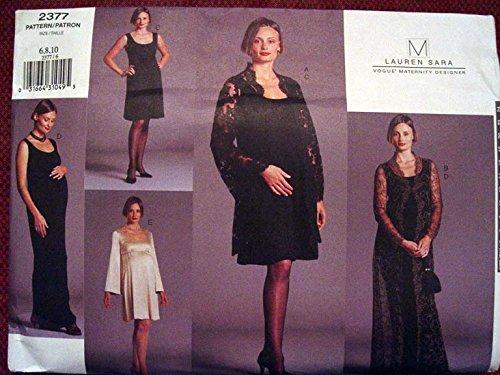 Vogue Maternity Designer, Lauren Sara Misses' Maternity Coat & Dress Sewing Pattern 2377 Sz 6-10 Out of Print