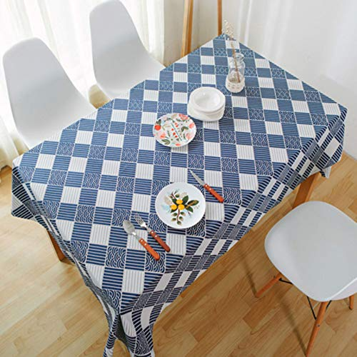 DJUX Cotton and linen table cloth, home decoration, rectangular coffee table cloth, round table cloth 140x140cm