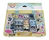 Calico Critters Colección de zapatos de moda, juego de casa de muñecas con figura de perro caramelo y accesorios de moda