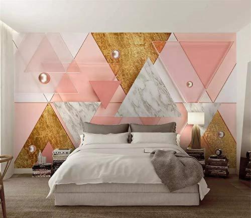 Fototapete 3D Tapete Wandbild Modernes Geometrisches Rosa Des Dreiecks Foto Tapete 3D Effekt Wandtapete Vliestapete Wandbilder XXL Wanddeko Tapeten