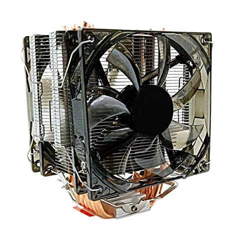 SymArt cojín de enfriamiento CPU Cooler 12 Cm Ventilador 6 Cobre Caliente 3pin Radiador Doble Ventilador Refrigerador Enfriador LGA...