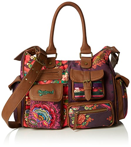 Desigual LONDON MEDIUM ALIKA - Borsa a tracolla Donna, Viola (3078), 32x25.40x12 cm (B x H x T)